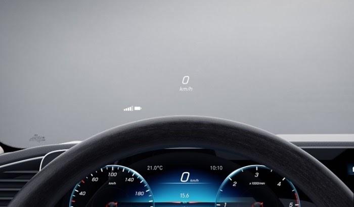 ระบบแสดงผลข้อมูลการขับขี่บนกระจกบังลมหน้า (Head-up display)