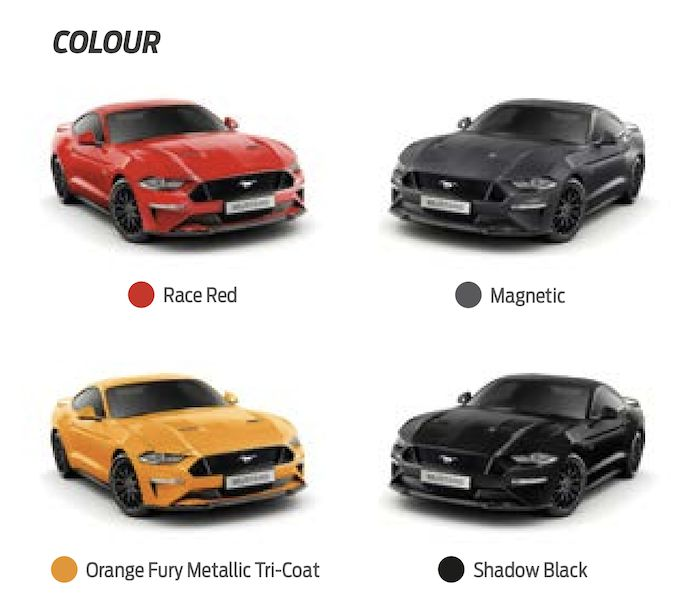 Ford Mustang สีตัวถัง