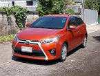 Toyota Yaris 1.2 G ปี14 สีส้ม รถบ้านมือเดียวทรงสวยไม่แก็สขับดีเครื่องช่วงล่างแน่นพร้อมใช้