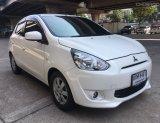 MITSUBISHI MIRAGE 1.2 GLS สีขาว ปี 2013 รถสวยน่าใช้มาก ราคาดี ผ่อนสบาย