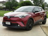 Toyota C-HR 1.8 Hybrid TOP ปี2018 สีแดง เกียร์ออโต้