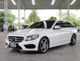 2015 Benz C300 bluetech-hybrid Estate สีขาว