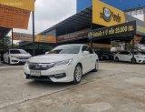 Honda Accord 2.4 EL Navi  สีขาว ปี 16 ตัวท๊อฟ มีระบบนำทาง  ราคา 819,000 บาท ดาวน์ 0 บาท ผ่อนเพียง 13500 บาท