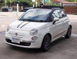 Fiat 500 1.4C Cabriolet ปี09จด10 หลังคาผ้าสีดำเปิดประทุนรถทรงสวยน่ารักตัวรถไม่มีอุบัติเหตุ
