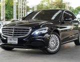 2015 BENZ C300 BLUETECH HYBRID  EXCLUSIVE  A/T  สีดำ