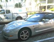 รถเปิดประทุน CHEVROLET ที่ Corvette สภาพดี