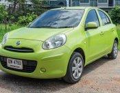Nissan March ปี 2011 เกียร์ธรรมดา รถสีเขียว สวยๆ