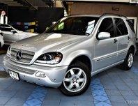 2004 BENZ ML 350 W163 แรงกว่า ประหยัดกว่า และ ใหม่กว่า ML 320 รถบ้านไม่เคยติดแก๊ส สภาพดีมาก