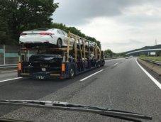 ภาพแอบถ่าย 2018 Toyota Camry ขณะขนส่งในประเทศญี่ปุ่น