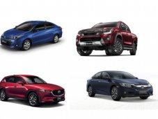 ยอดขายรถยนต์ทุกประเภทในไทยประจำปี 2560 โตขึ้น 13%