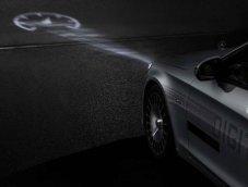 Digital Light ฉายสัญลักษณ์ลงพื้นถนนเทคโนโลยีเพื่อความปลอดภัย สำหรับ Mercedes-Maybach S-Class