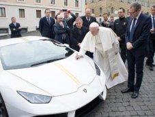 """เปิดประมูล """"Lamborghini Huracan"""" ของ Pope Francis แห่งคริสตจักร รายได้มอบให้ทหารผ่านศึก"""