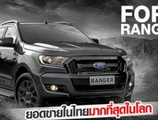 สรุปไตรมาสแรก ปี 2018  ยอดขาย Ford Ranger ไทยขายดี พุ่งขึ้นอีก 34 เปอร์เซ็นต์