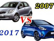 Yaris 2007 vs Yaris 2017  หนึ่งทศวรรษ การวิวัฒนาการของรถแฮทช์แบครุ่นแรก
