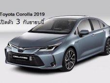 Toyota Corolla Altis 2019 เปิดตัวรุ่นใหม่ในไทยวันที่ 3 ก.ย.นี้ มีรุ่นไฮบริดด้วย