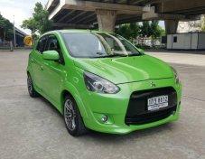 ขายรถ MITSUBISHI MIRAGE 1.2 GLX สีเขียว ปี2012