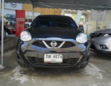 2017 Nissan MARCH 1.2 S MT hatchback สีดำ