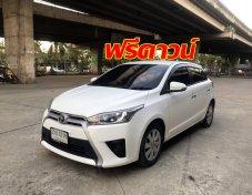 ฟรีดาวน์ Toyota YARIS 1.2G ตัวTOP ปี 2014 สีขาว ร