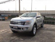 J0007 Ford Ranger 2012 สีบรอนซ์ 2.2XLT Hi-Rider 4 ประตู เกียร์ออโต้
