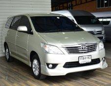 ราคา 469,000 บาท  Toyota Innova 2.0 V Wagon AT 2013 Option :  - ติดแก๊ส LPG ถังโดนัท - เครื่องเบนซิน 2,000CC - ตกแต่งภายในลายไม้ และหนังแท้ทั้งคัน - พวงมาลัยพาวเวอร์ มีมัลติฟังก์ชั่น - ระบบความปลอดภัย