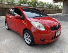 ฟรีดาวน์ Toyota Yaris 1.5G ปี 2006 สีแดง รถมือเดียว ไม่แก๊ส เล่มพร้อมโอน