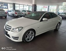 Mercedes-Benz C180 Coupe AMG สีขาว เบาะแดง ปี 2012