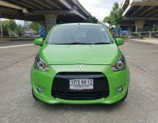 MITSUBISHI MIRAGE 1.2 GLX สีเขียว ปี 2012