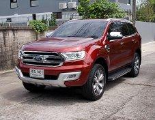 Ford Everest 3.2 Titanium Plus ขับ4WD ปี15 สีแดง รถบ้านมือเดียวสภาพสวยออฟชั่นเต็มขับดีเครื่องช่วงล่างแน่นหาใช้ต้องไม่มองข้ามคันนี้