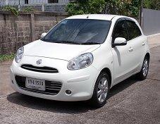 Nissan March 1.2 V ปี12 รถมือเดียวสวยกว้างนั่งสบายไม่แก็สขับดีน่าหาใช้งาน