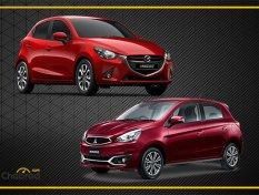 เปรียบเทียบ Mazda2 กับ Mitsubishi Mirage ซื้อคันไหนดี?