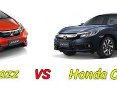 Honda jazz 2018 vs Honda civic 2018 คันไหนดีกว่ากัน