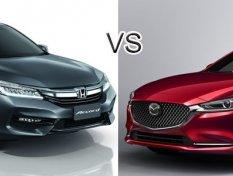 เปรียบเทียบ Honda Accord 2018 และ Mazda Atenza 2018 คันไหนดี?