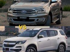 คันไหนน่าซื้อกว่ากัน ระหว่าง Ford Everest 2019 VS Chevrolet Trailblazer 2019