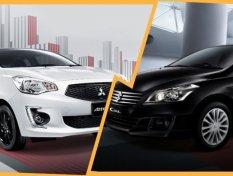 Suzuki Ciaz vs. Mitsubishi Attrage อีโค่ซีดานตัวเด็ด ท้าชนทุกมุมมอง รุ่นไหนน่าใช้กว่ากัน?