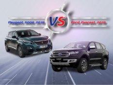 Peugeot 5008 2019 vs Ford Everest 2019 เทียบความคุ้มค่าในราคา 1.7 ล้าน