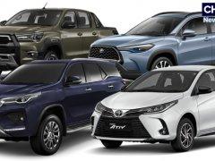 Toyota ปิดยอดรถ 2563 ที่ 244,316 คัน ยังครองส่วนแบ่งกว่า 30%