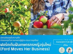ฟอร์ด หาแรงบันดาลใจ เกษตรกรหญิงรุ่นใหม่ ชนะเลิศให้ทุน 100,000 บาท