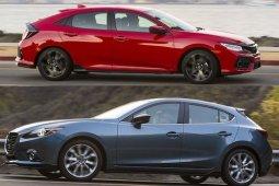 เทียบหมัดต่อหมัดระหว่าง Honda Civic กับ Mazda 3