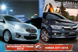 Mitsubishi Attrage 2018 Vs Honda City 2018 กับความโดดเด่นที่แตกต่างกัน