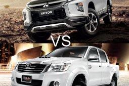 ระหว่าง กระบะป้ายแดง Mitsubishi Triton 2018 กับ มือสอง Toyota Hilux Vigo ควรซื้อคันไหน?