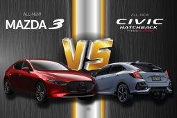 เปรียบเทียบ Civic Hatchback Vs Mazda 3 Fastback
