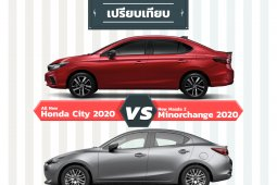 เปรียบเทียบ All New Honda City 2020 vs Mazda 2 Minorchanger 2020
