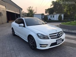 Benz c180 1.6 w204 amg coupe at สีขาว ปี 2015