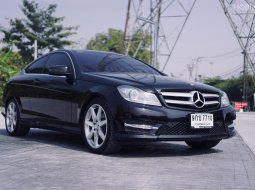 Benz c180 1.6 w204 amg coupe at สีดำ 2014
