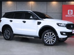 2019 Ford Everest 2.0 Titanium+ SUV AT Model Minorchange รุ่นที่มีการปรับโฉมใหม่หมดทั้งคัน สีขาว Arctic White Metallic รถยังอยู่ในการรับประกันจาก FORD B4192